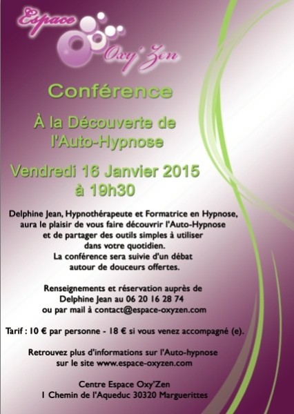 conf rence a la d couverte de l 39 auto hypnose n mes montpellier. Black Bedroom Furniture Sets. Home Design Ideas